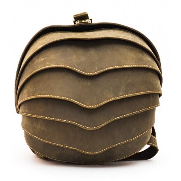 Рюкзак Shell small (натуральная кожа) хаки