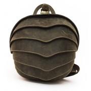 Рюкзак Shell small (натуральная кожа) зеленый