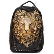Рюкзак голова Льва Lion Bronze черный/бронзовый