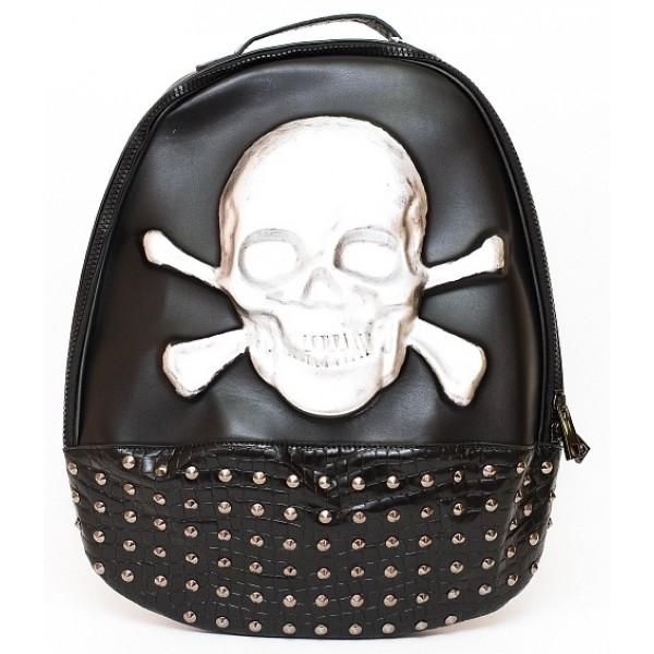 Рюкзак Skull 3077 черный/серебро