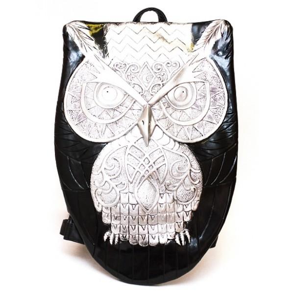 Рюкзак Owl 3050 черный/серебро