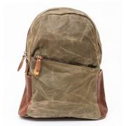 Рюкзак L&F 2039 натуральная кожа, плотная ткань серый