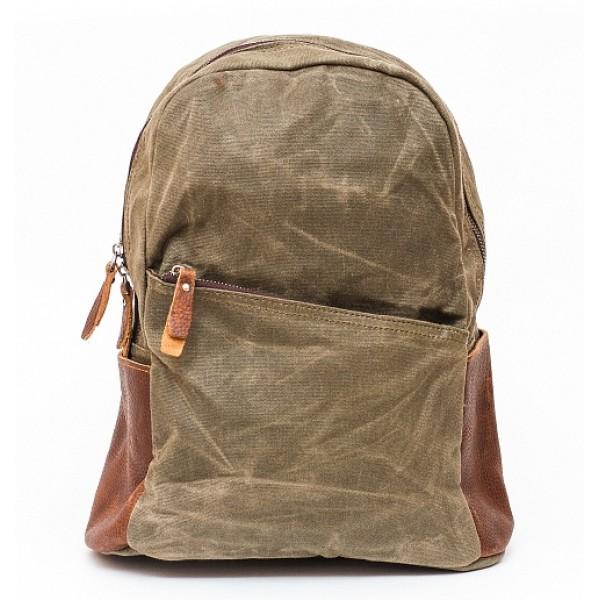 Рюкзак L&F 2039 (натуральная кожа+плотная ткань) серый