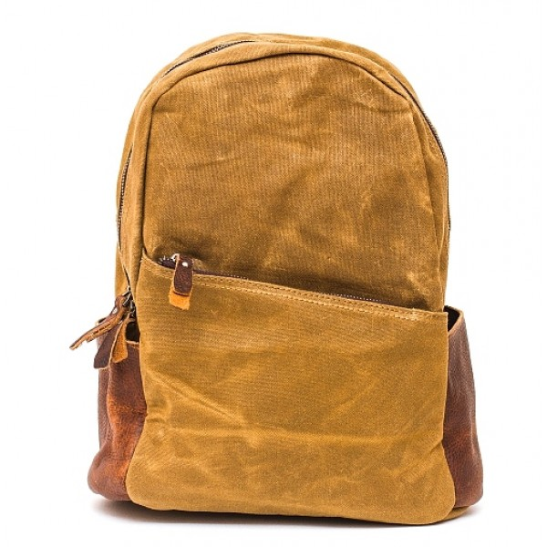 Рюкзак L&F 2039 (натуральная кожа+плотная ткань) хаки
