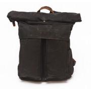 Рюкзак L&F 2050 натуральная кожа, плотная ткань черный