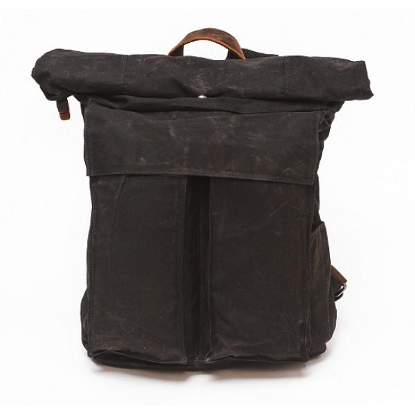 Рюкзак L&F 2050 (натуральная кожа+плотная ткань) черный