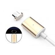 Магнитный кабель для зарядки устройств на базе Android с microusb (золотой)