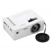 Портативный мини-проектор LED проектор UNIC UC18 с поддержкой HD видео (белый, черный)