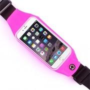 Сумка чехол на пояс для смартфона (розовая)