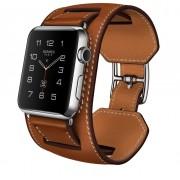 Двойной кожаный ремешок для Apple Watch 42 (коричневый)