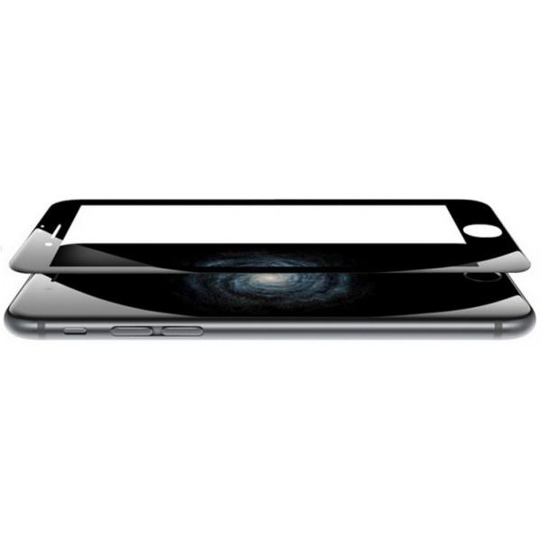 Защитное стекло с закругленными краями для iPhone 6, 6S Premium Tempered 3D Glass Screen Protector (Чёрный)