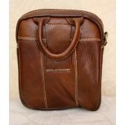 Стильная мужская сумка с ручкой (коричневый)