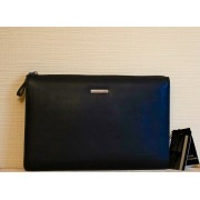Деловая стильная мужская сумка портфель для ноутбука, документов (Черный)