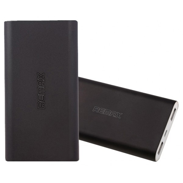Универсальный внешний аккумулятор Remax Vanguard 10000 мАч Power Bank Power Box (металл черный цвет)