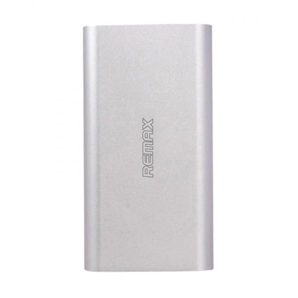 Универсальный внешний аккумулятор Remax Vanguard 10000 мАч Power Bank Power Box (металл цвет серебро)