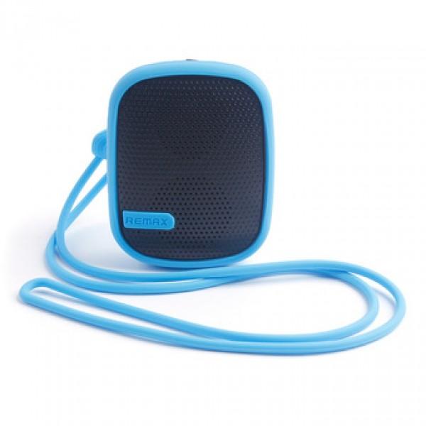 Портативная аудиоколонка колонка Remax Music Box X2 Mini Speaker (Синяя)