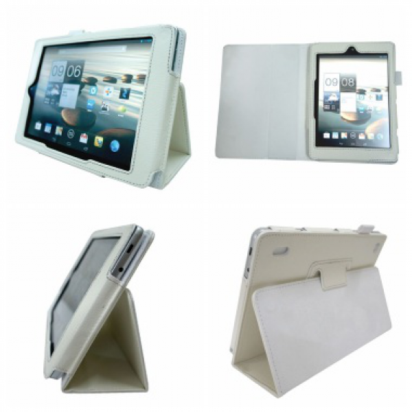 Чехол книжка для планшета Acer Iconia Tab A1-810, A1-811 (Белый)