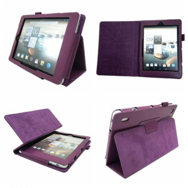 Чехол книжка для планшета Acer Iconia Tab A1-810, A1-811 (Фиолетовый)