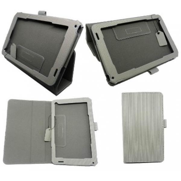 Чехол книжка дизайнерский для планшета Acer Iconia Tab B1-720 (Серый)