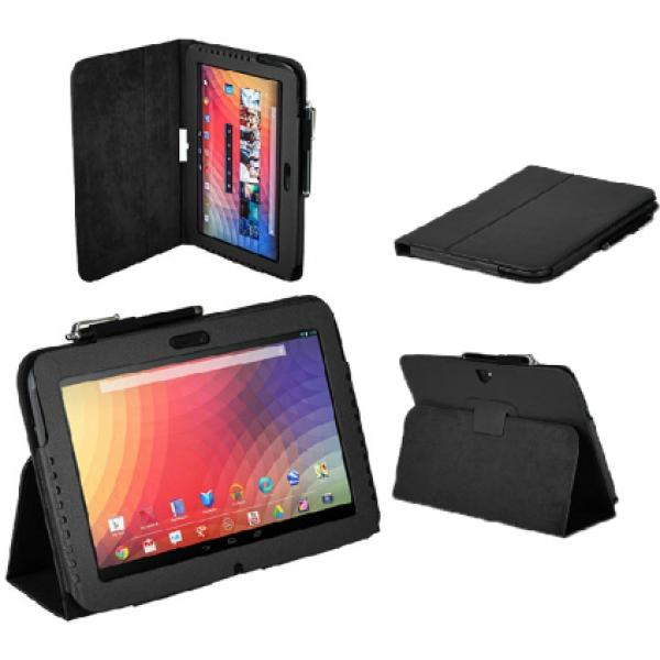 Чехол книжка для планшета Samsung Google Nexus 10 P8110 (Черный)