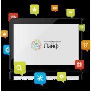 Чехол книжка для планшета LifePad (Черный)