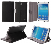 Чехол книжка Slim Премиум для планшета Samsung Galaxy Tab 4 7.0 SM-T230, SM-T231, SM-T235 (Черный)