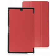 Чехол книжка Премиум для планшета Sony Z3 Tablet Compact (Красный)