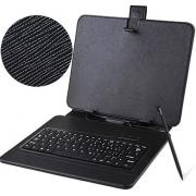 Универсальный чехол книжка с клавиатурой для планшета 8-9 (Черный)