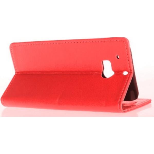 Чехол книжка SlimFit для телефона HTC One M8(красный)
