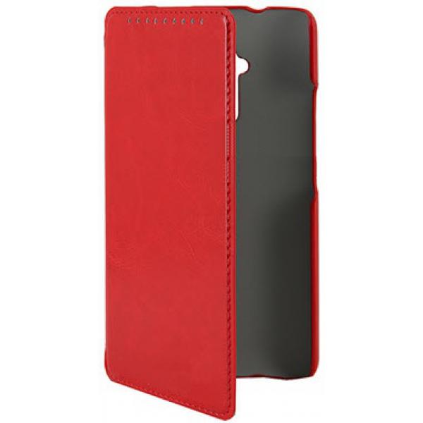 Чехол книжка SlimFit для телефона HTC One Max T6(Красный)