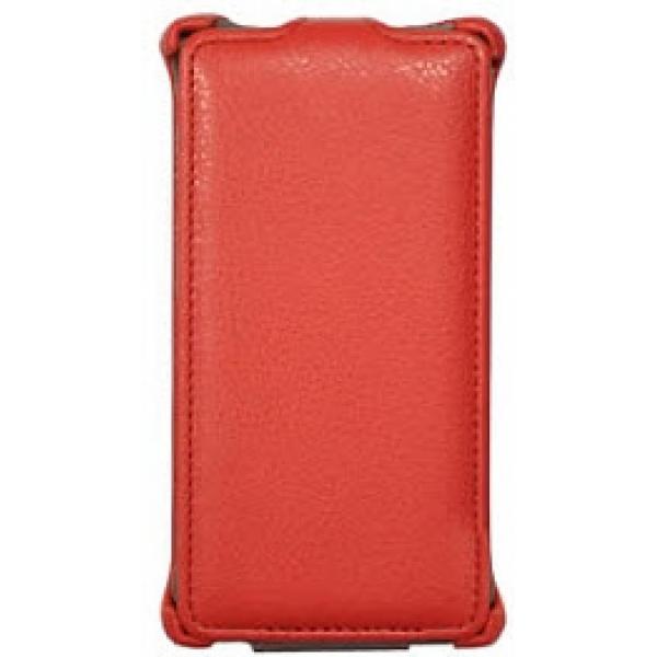 Чехол книжка Armor для смартфона Huawei Ascend D2/D2-2010 (Красный)