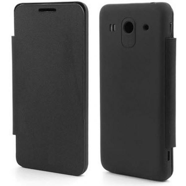 Чехол книжка SlimFit для телефона Huawei Ascend G525 (Черный)