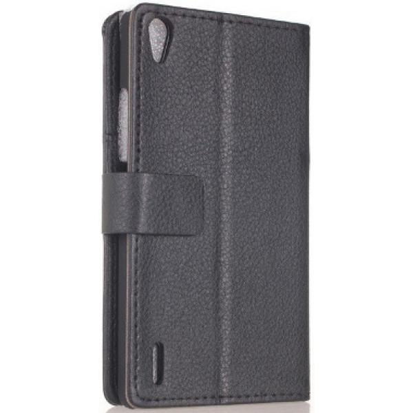 Чехол книжка SlimFit для телефона Huawei Ascend P7 (Черный)