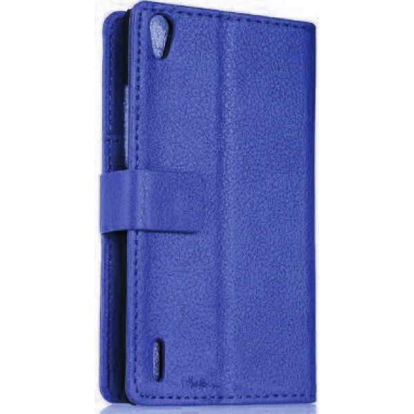 Чехол книжка SlimFit для телефона Huawei Ascend P7 (Синий)