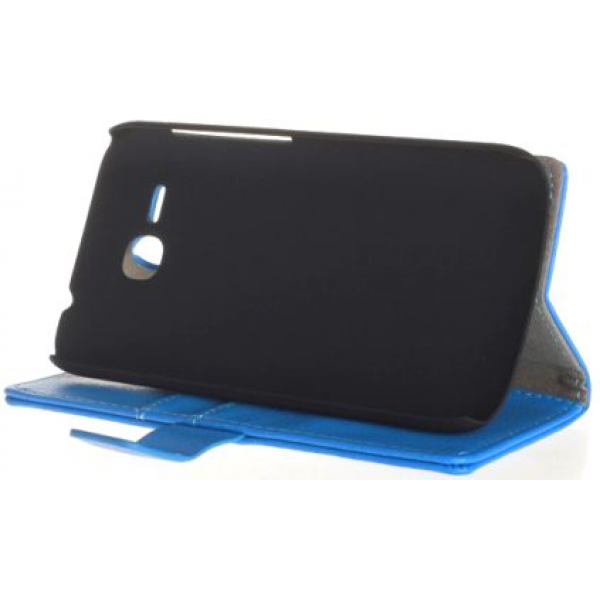 Чехол книжка SlimFit для телефона Huawei Ascend Y600 (Синий)