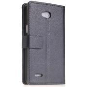 Чехол книжка SlimFit для смартфона LG L80 (Черный)