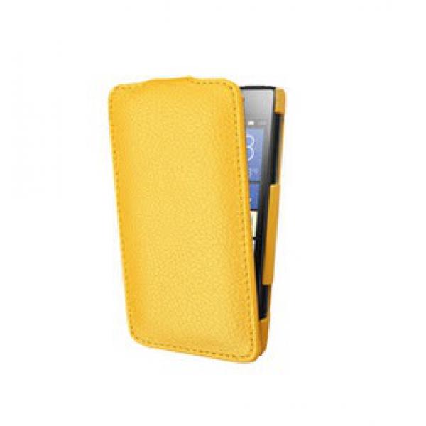 Чехол книжка Armor для телефона Nokia Lumia 630 (Желтый)