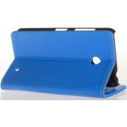 Чехол книжка SlimFit для телефона Nokia Lumia 630 (Синий)