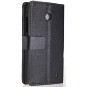 Чехол книжка SlimFit для телефона Nokia Lumia 630 (Черный)