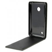 Чехол книжка с силиконовым основанием для смартфона Nokia 503 Asha Dual Sim (Черный)