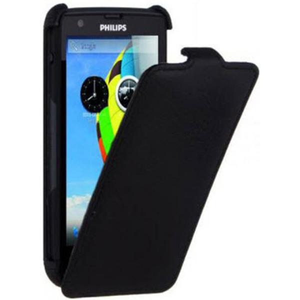 Чехол книжка Armor для телефона Philips Xenium W6500 (Черный)