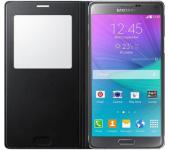 Чехол книжка Book SlimFit для смартфона Samsung Galaxy Note 4 (Черный)