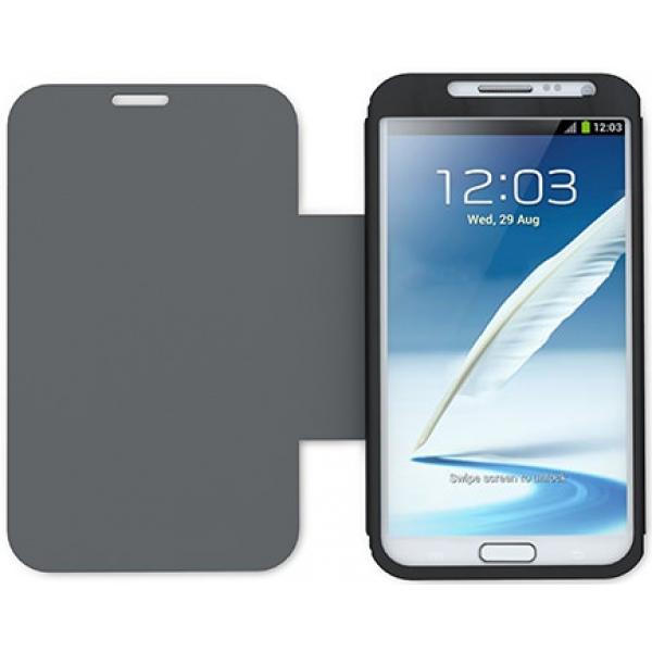 Чехол книжка SlimFit для телефона Samsung Galaxy Note 2 (Черный)