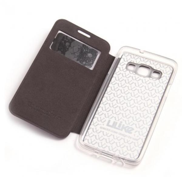 Чехол книжка View Case для для смартфона Samsung Galaxy A7 SM-A700F (Черный)