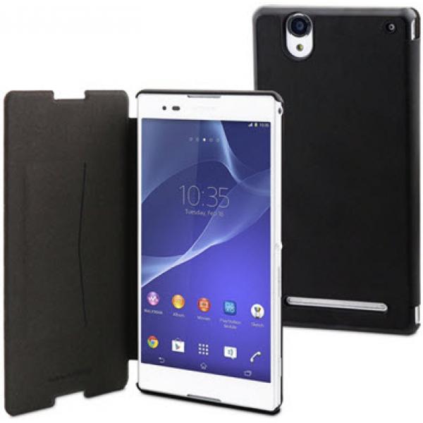 Чехол книжка Slimfit для телефона Sony Xperia T2(Черный)