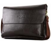 Сумка планшет размер XL мужская для ноутбука, документов Polo (Коричневый)