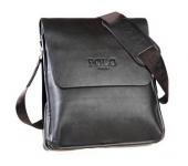 Сумка кожаная размер M мужская для iPad mini или документов Polo (Коричневый)