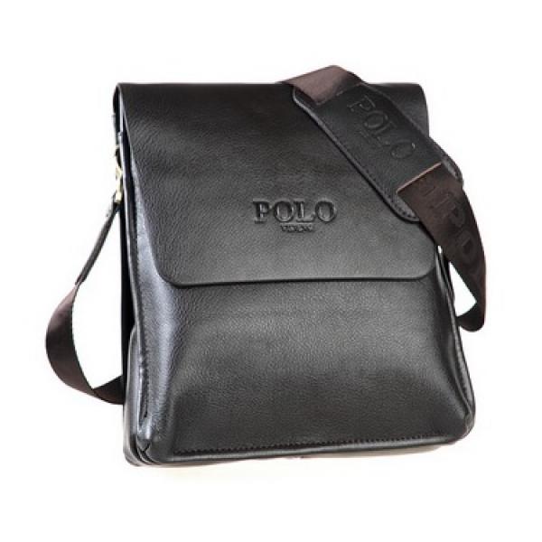 6b1609b8c2d6 Сумка кожаная размер M мужская для iPad mini или документов Polo  (Коричневый)