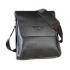 Сумка кожаная мужская размер XL для iPad mini или документов Polo (Черный)