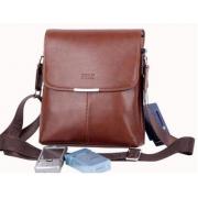 Сумка кожаная размер M мужская для iPad mini или документов Polo (Светло - коричневый)